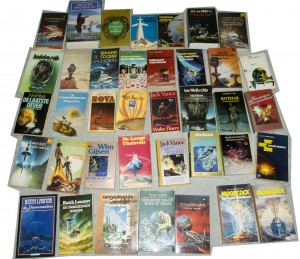 Box 1 of 4 with Science Fiction books for eBay