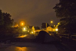 Lymm at night