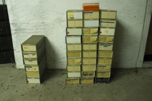 Approximately 3700 slides,  reduced to 600