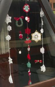 Snowflakes, wreath, tiny snowman, angel, stocking, Christmas cracker, Danish heart
