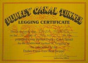 Legging Certificate