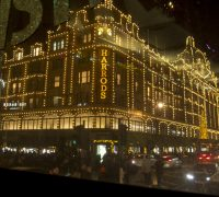 Harrods in Christmas Outfit