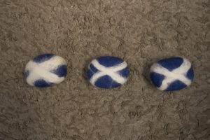Second, third, and fourth felted soap